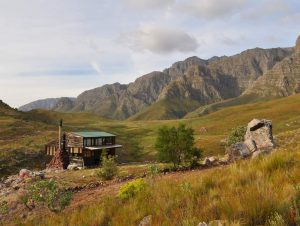 Photo of the Agtertafelberg Hut in the Du Toit's Kloof Mountains