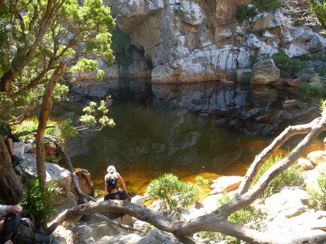 The mcsa cape town section crystal pools steenbras river gorge - Crystal pools waterfall ...