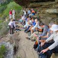 Water stop below Slangolie Buttress