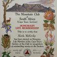 Aleck's award is ''in recognition of outstanding service to the (Cape Town) Section''