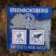 Steenboksberg sign, damaged by fire